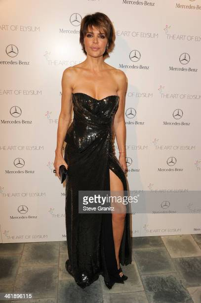 TV personality Lisa Rinna arrives at The Art of Elysium's 7th Annual HEAVEN Gala presented by MercedesBenz at Skirball Cultural Center on January 11...