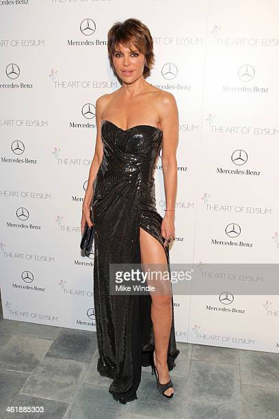 TV personality Lisa Rinna attends The Art of Elysium's 7th Annual HEAVEN Gala presented by MercedesBenz at Skirball Cultural Center on January 11...