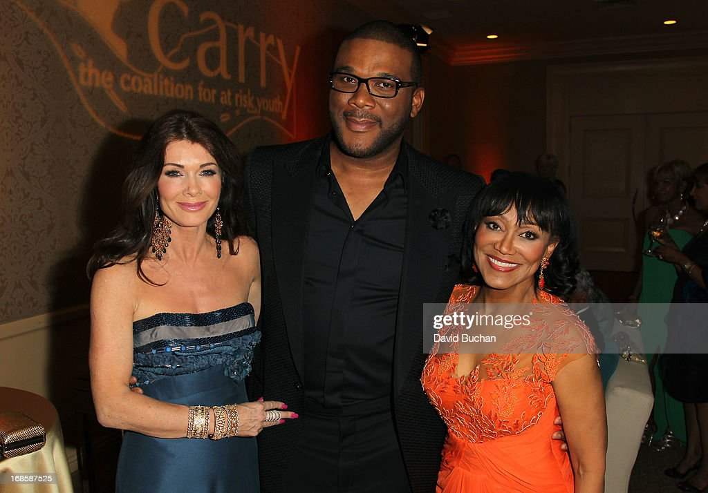 TV personality Lisa Vanderpump, actor/director Tyler Perry and Dr. Pearl E. Grimes attend The Coalition For At-Risk Youth (CARRY) 'Shall We Dance' Gala at The Beverly Hilton Hotel on May 11, 2013 in Beverly Hills, California.