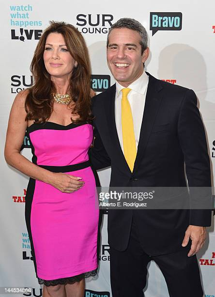 TV personality Lisa Vanderpump and Bravo's Executive Vice President of Development Talent Andy Cohen arrive to Bravo Media's celebration of the book...