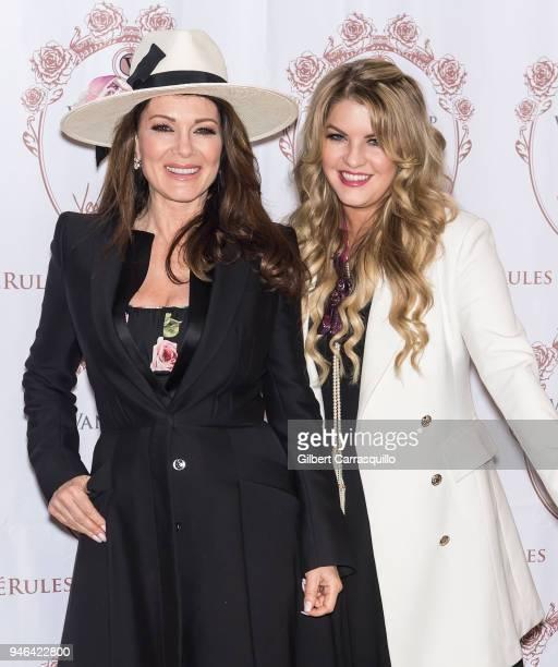 TV personality Lisa Vanderpump and daughter Pandora Vanderpump Sabo pose during the bottle signing of Vanderpump Rose at the Fine Wine Good Spirits...