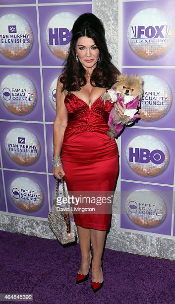 TV personality Lisa Vanderpump and Giggy attend the Family Equality Council's Los Angeles Awards Dinner at The Beverly Hilton Hotel on February 28...