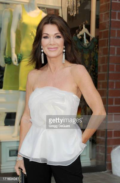 TV personality Lisa Vanderpump arrives at a fashion fundraiser hosted by Kyle Richards benefiting Children's Hospital Los Angeles at Kyle by Alene...