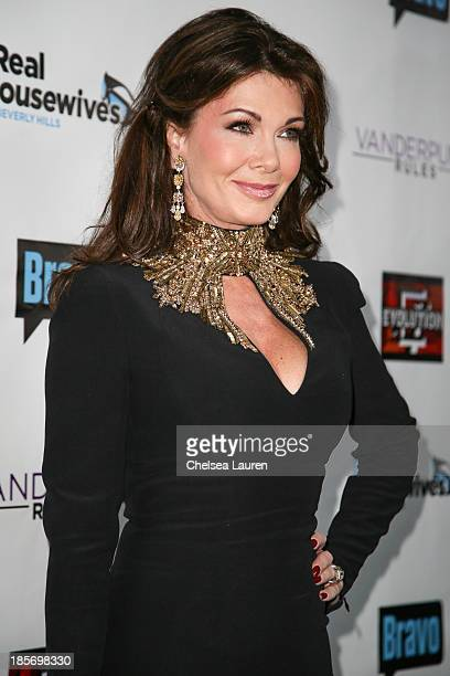 TV personality Lisa Vanderpump arrives at 'The Real Housewives Of Beverly Hills' and 'Vanderpump Rules' premiere party at Boulevard3 on October 23...