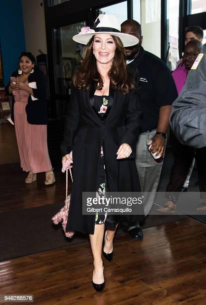 TV personality Lisa Vanderpump arrives for her bottle signing of Vanderpump Rose at the Fine Wine Good Spirits Premium Collection store on April 14...