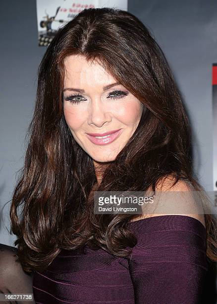 TV personality Lisa Vanderpump attends a book party for Grace Robbins' memoir 'Cinderella and the Carpetbagger' at SUR Lounge on April 10 2013 in Los...