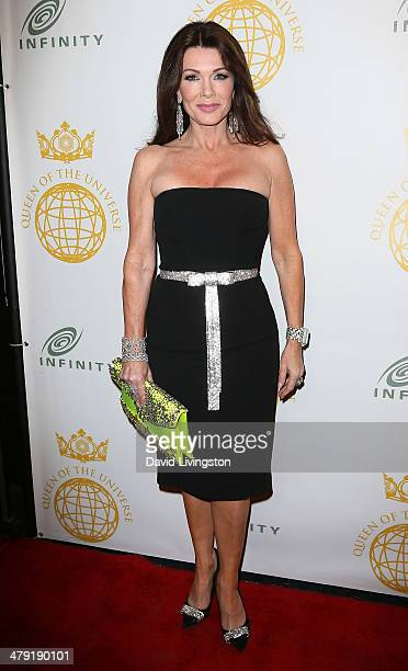 TV personality Lisa Vanderpump attends the Queen of the Universe International Beauty Pageant at the Saban Theatre on March 16 2014 in Beverly Hills...