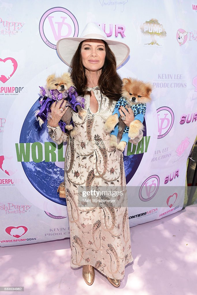 TV personality Lisa Vanderpump attends the World Dog Day Celebration at The City of West Hollywood Park on May 22, 2016 in West Hollywood, California.
