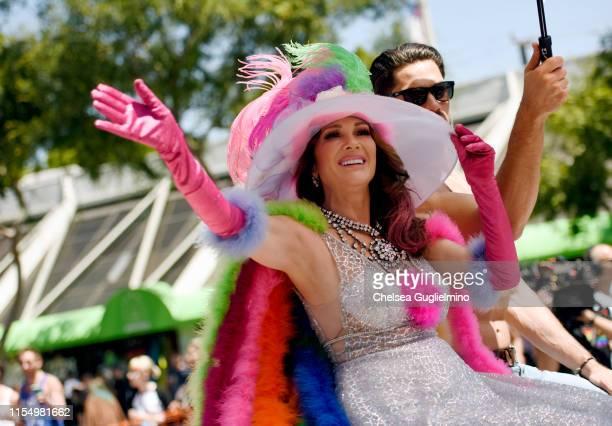 Personality Lisa Vanderpump seen at the LA Pride Parade on June 09, 2019 in West Hollywood, California.