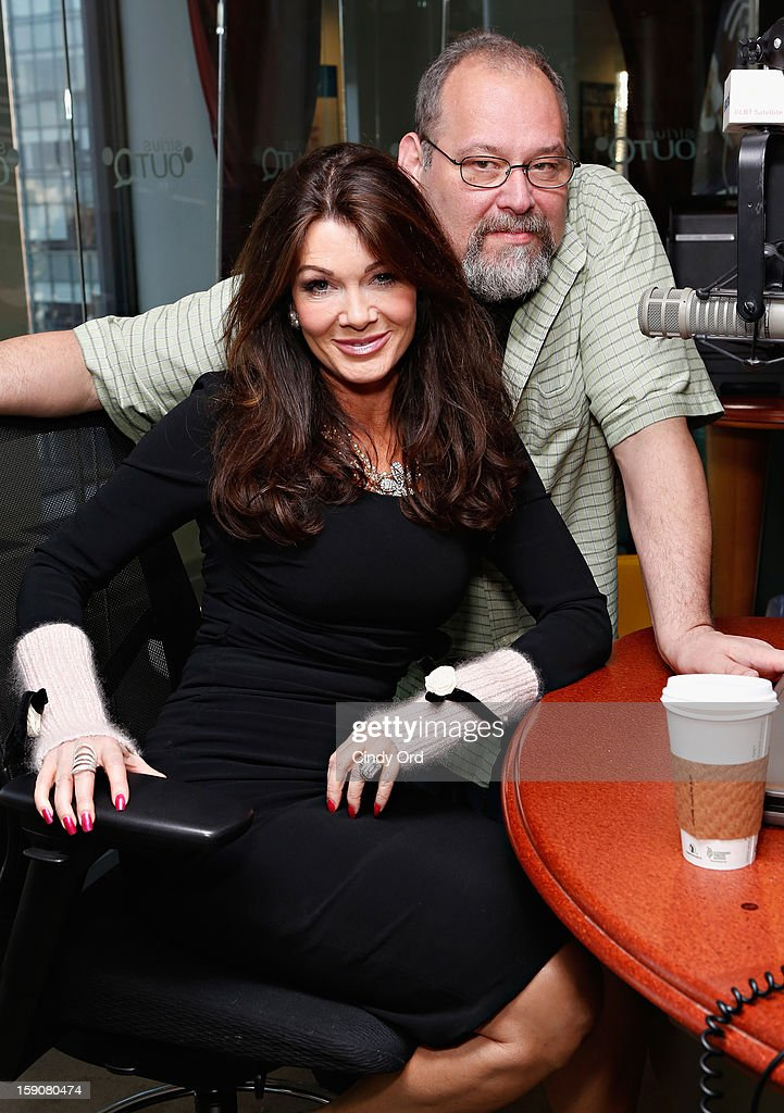 TV personality Lisa Vanderpump (L) visits 'The Morning Jolt With Larry Flick' at SiriusXM Studios on January 7, 2013 in New York City.