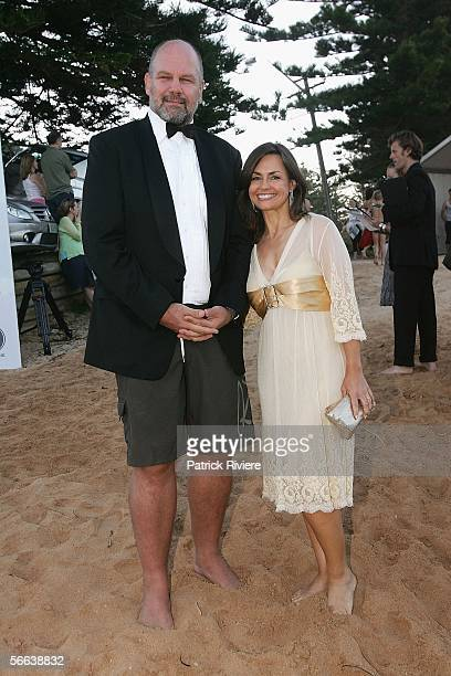 Personality Lisa Wilkinson and her Husband Former Rugby Player and Media Personality Peter Fitzsimon attend the Barefoot Black Tie fundraiser at Palm...