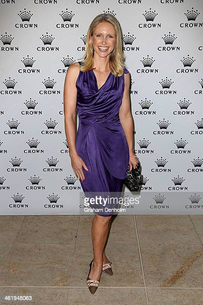 TV personality Livinia Nixon poses as she arrives at the IMG tennis players party at Crown Towers on January 12 2014 in Melbourne Australia