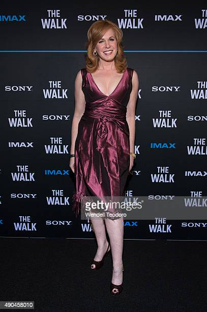 Personality Liz Claman attends The Walk IMAX Special screening at the AMC Lincoln Square Theater on September 28 2015 in New York City