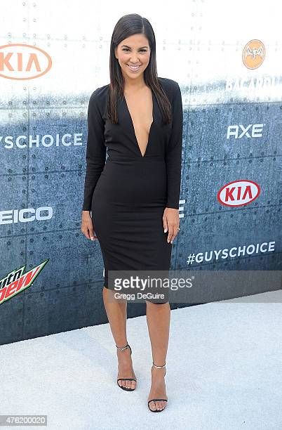 TV personality Liz Hernandez arrives at Spike TV's Guys Choice 2015 at Sony Pictures Studios on June 6 2015 in Culver City California