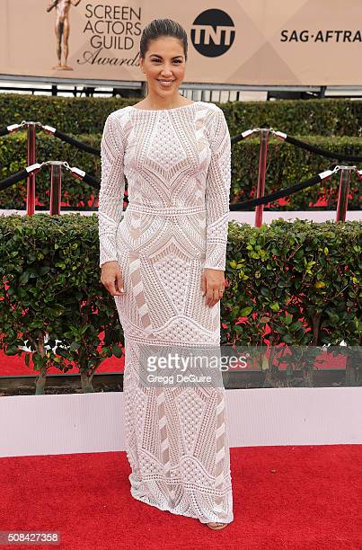 TV personality Liz Hernandez arrives at the 22nd Annual Screen Actors Guild Awards at The Shrine Auditorium on January 30 2016 in Los Angeles...