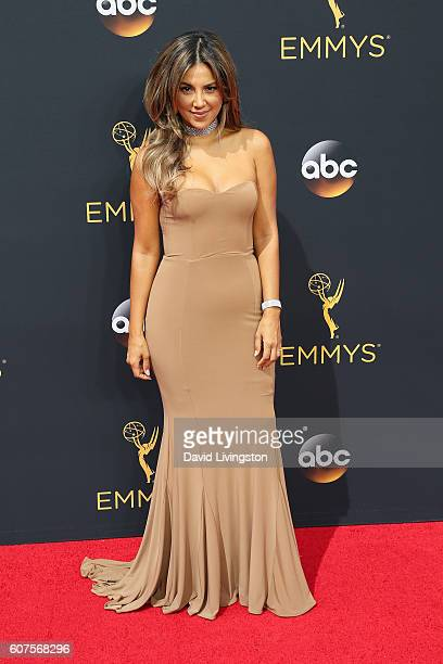 TV personality Liz Hernandez arrives at the 68th Annual Primetime Emmy Awards at the Microsoft Theater on September 18 2016 in Los Angeles California