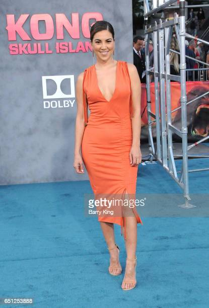 TV personality Liz Hernandez arrives for the Premiere of Warner Bros Pictures' 'Kong Skull Island' at Dolby Theatre on March 8 2017 in Hollywood...