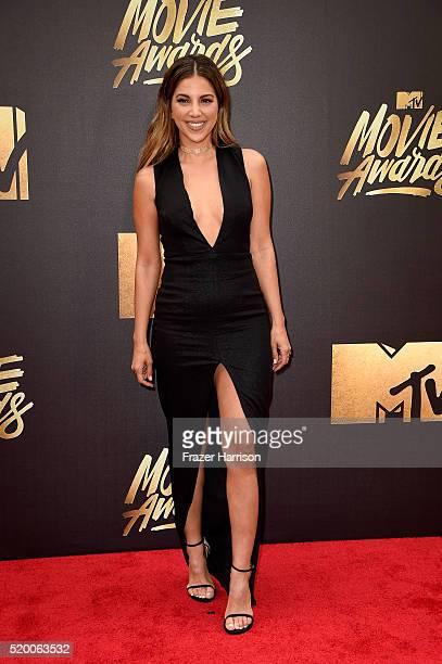 TV personality Liz Hernandez attends the 2016 MTV Movie Awards at Warner Bros Studios on April 9 2016 in Burbank California MTV Movie Awards airs...