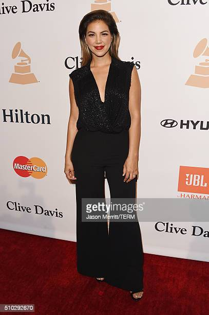 TV personality Liz Hernandez attends the 2016 PreGRAMMY Gala and Salute to Industry Icons honoring Irving Azoff at The Beverly Hilton Hotel on...