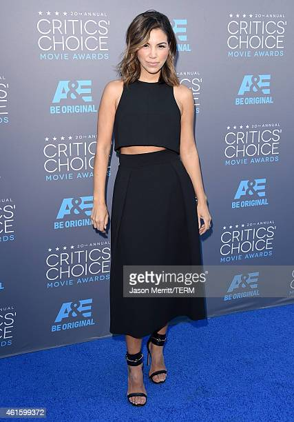 TV personality Liz Hernandez attends the 20th annual Critics' Choice Movie Awards at the Hollywood Palladium on January 15 2015 in Los Angeles...