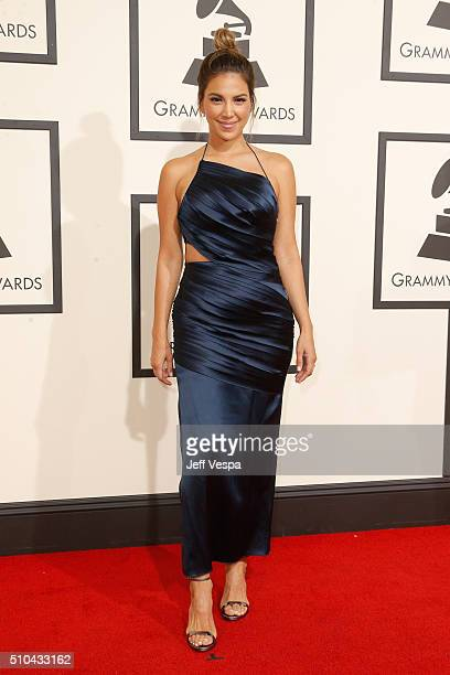 TV personality Liz Hernandez attends The 58th GRAMMY Awards at Staples Center on February 15 2016 in Los Angeles California