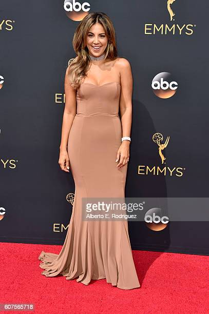 TV personality Liz Hernandez attends the 68th Annual Primetime Emmy Awards at Microsoft Theater on September 18 2016 in Los Angeles California