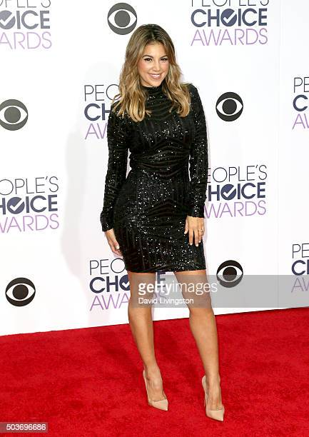 TV personality Liz Hernandez attends the People's Choice Awards 2016 at Microsoft Theater on January 6 2016 in Los Angeles California