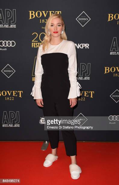 Personality Liz Trinnear attends the Artists For Peace And Justice Festival Gala 2017 Presented By Bovet 1822 at AGO on September 10 2017 in Toronto...