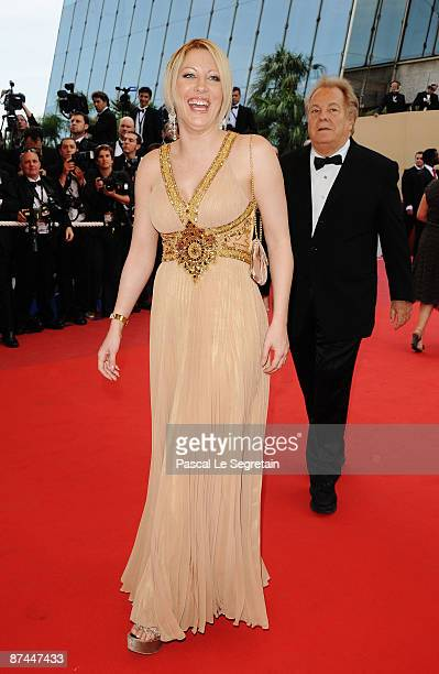 TV personality Loana and Massimo Gargia attend the Vengeance Premiere at the Palais Des Festivals during the 62nd International Cannes Film Festival...