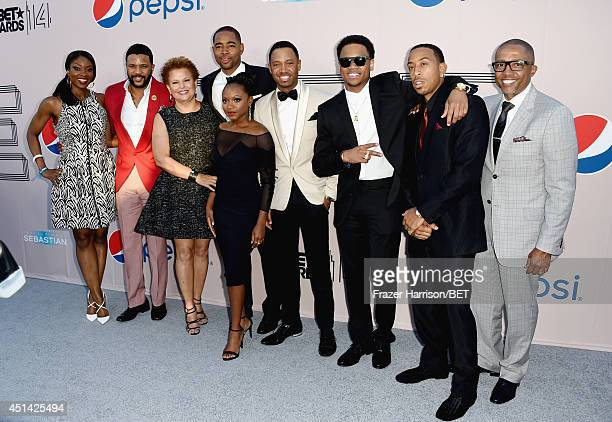 TV personality Lola Ogunnaike actor Hosea Chanchez BET Networks Chairman CEO Debra L Lee actors Jay Ellis Naturi Naughton Terrence Jenkins Tristan...