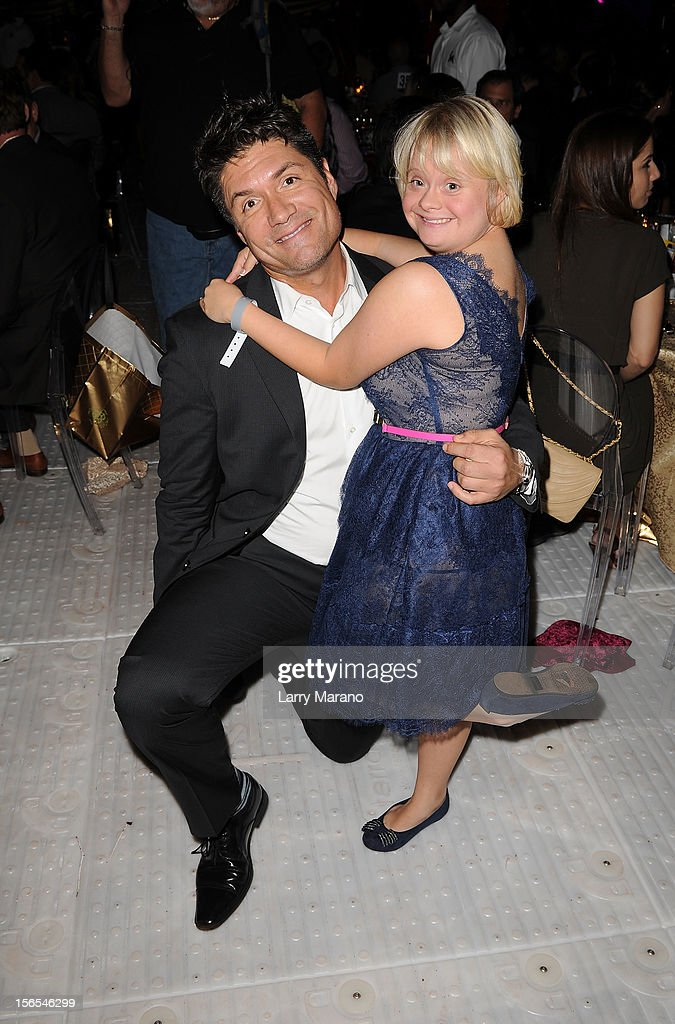 TV Personality Louis Aguirre and actress Lauren Potter attends the Zenith Watches Best Buddies Miami Gala at Marlins Park on November 16, 2012 in Miami, Florida.