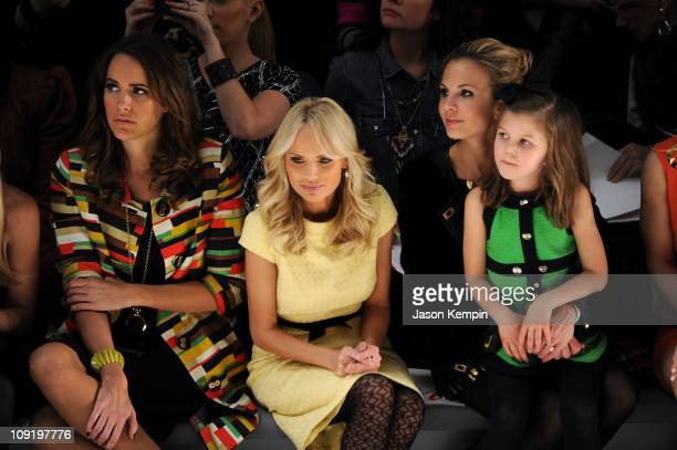 TV personality Louise Roe actress Kristin Chenoweth TV personality Elisabeth Hasselbeck and her daughter Grace Hasselbeck attend the Milly by...