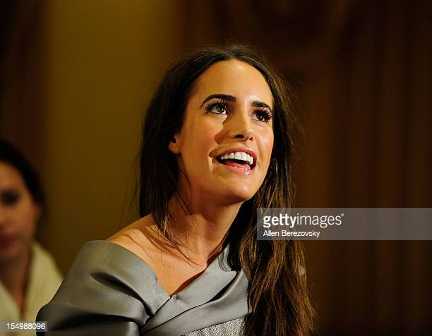 Personality Louise Roe arrives at the 2012 Courage in Journalism Awards hosted by the International Women's Media Foundation held at the Beverly...