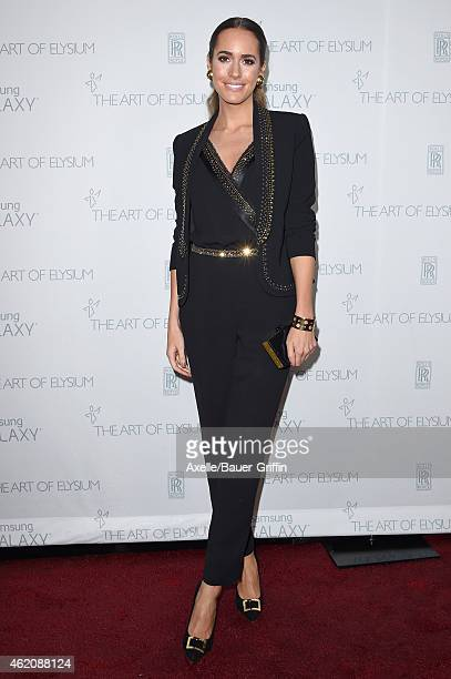 Personality Louise Roe arrives at The Art Of Elysium 8th Annual Heaven Gala at Hangar 8 on January 10, 2015 in Santa Monica, California.