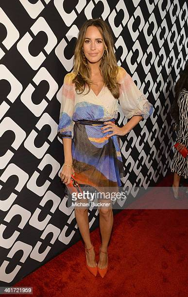 TV personality Louise Roe attends Diane Von Furstenberg's Journey of A Dress Exhibition Opening Celebration at May Company Building at LACMA West on...