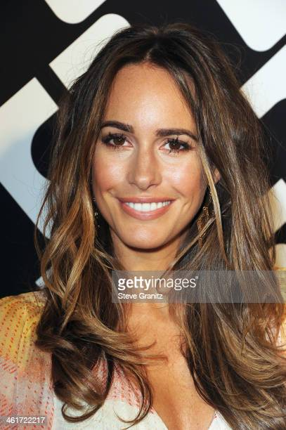 TV personality Louise Roe attends Diane Von Furstenberg's 'Journey Of A Dress' Premiere Opening Party at Wilshire May Company Building on January 10...