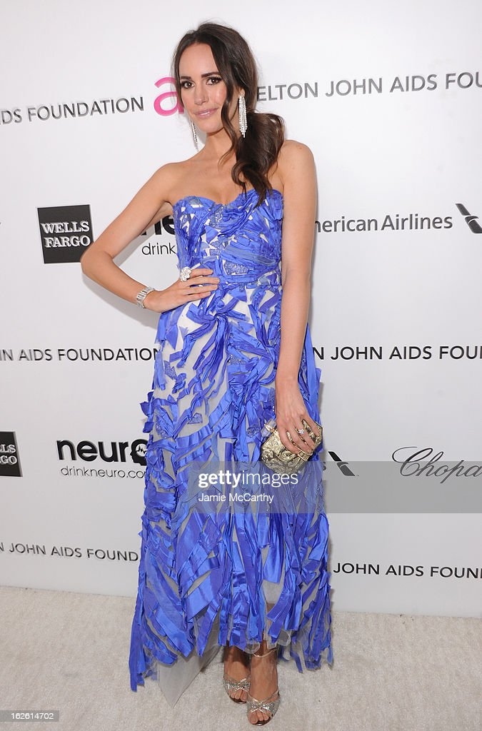 TV personality Louise Roe attends the 21st Annual Elton John AIDS Foundation Academy Awards Viewing Party at West Hollywood Park on February 24, 2013 in West Hollywood, California.