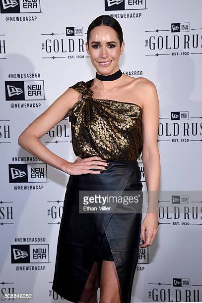 TV personality Louise Roe attends the New Era Super Bowl party at The Battery on February 6 2016 in San Francisco California
