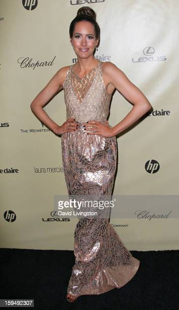 TV personality Louise Roe attends The Weinstein Company's 2013 Golden Globe Awards After Party at The Beverly Hilton hotel on January 13 2013 in...