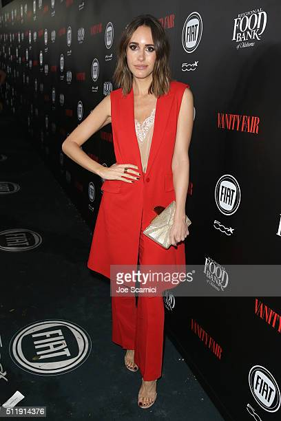 TV personality Louise Roe attends Vanity Fair and FIAT Young Hollywood Celebration at Chateau Marmont on February 23 2016 in Los Angeles California