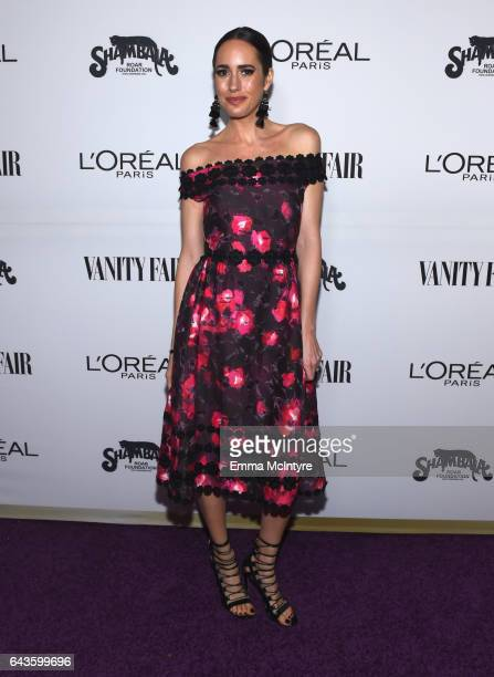 TV personality Louise Roe attends Vanity Fair and L'Oreal Paris Toast to Young Hollywood hosted by Dakota Johnson and Krista Smith at Delilah on...