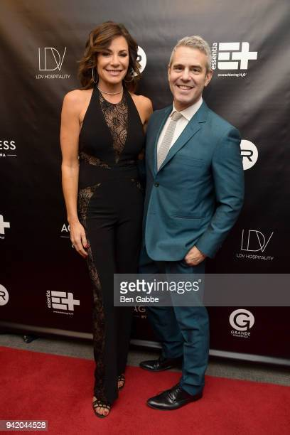 TV personality LuAnn de Lesseps and Andy Cohen attend The Real Housewives of New York Season 10 Premiere Viewing Party at The Seville on April 4 2018...