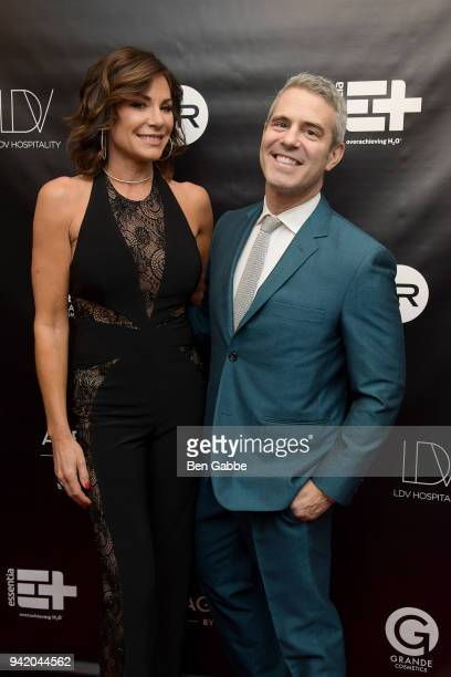 Personality LuAnn de Lesseps and Andy Cohen attend The Real Housewives of New York Season 10 Premiere & Viewing Party at The Seville on April 4, 2018...
