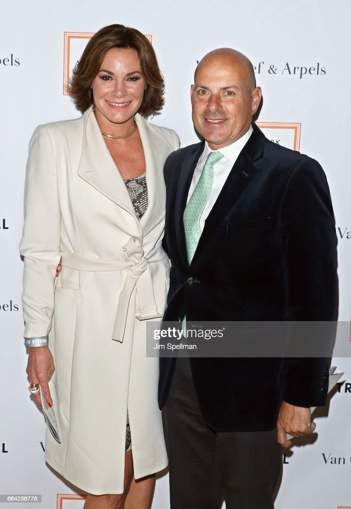 TV personality Luann de Lesseps and Thomas D'Agostino Jr. attend the 2017 TriBeCa Ball at The New York Academy of Art on April 3, 2017 in New York City.