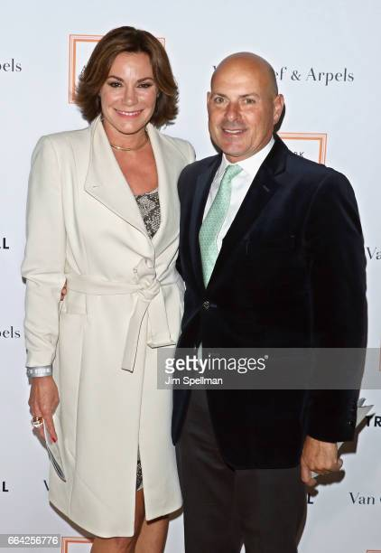 TV personality Luann de Lesseps and Thomas D'Agostino Jr attend the 2017 TriBeCa Ball at The New York Academy of Art on April 3 2017 in New York City
