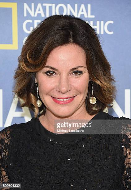 TV personality Luann de Lesseps attends National Geographic's 'Years Of Living Dangerously' new season world premiere at the American Museum of...