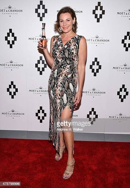 TV personality LuAnn de Lesseps attends the Moet Nectar Imperial Rose x Marcelo Burlon Launch Event on June 3 2015 in New York City