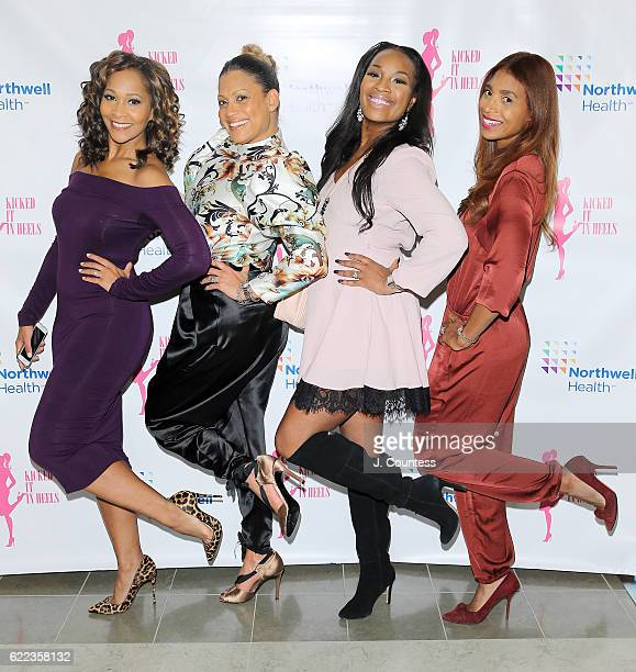 Personality Lyndsay Christian Erika Munro Kennerly Dana Whitfield and Keeba Williams Henry attend the 2016 Kicked It In Heels Cocktail Reception at...