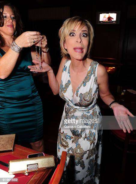 TV personality Lynn Martinez attends the First Annual Friends of the Orphans Gala at JW Marriott on October 16 2009 in Miami Florida