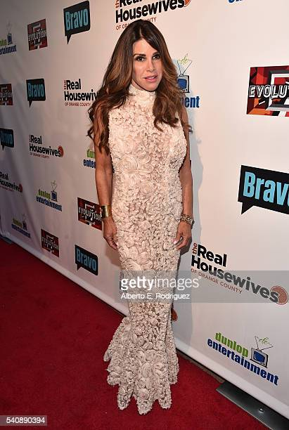 TV personality Lynne Curtin attends the premiere party for Bravo's 'The Real Housewives of Orange County' 10 year celebration at Boulevard3 on June...
